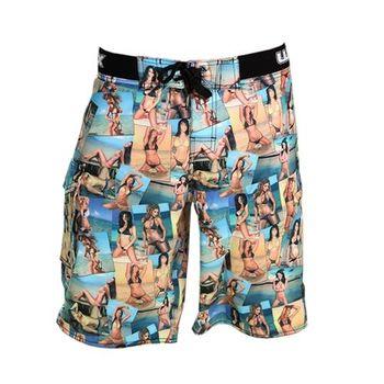 《WAXX》海灘美女大集合高質感吸濕排汗運動男海灘衝浪褲
