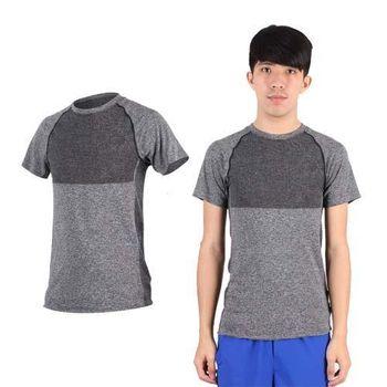 【NEWBALANCE】男短袖T恤-慢跑 路跑 休閒 運動 上衣 NB 深灰  安全反光LOGO