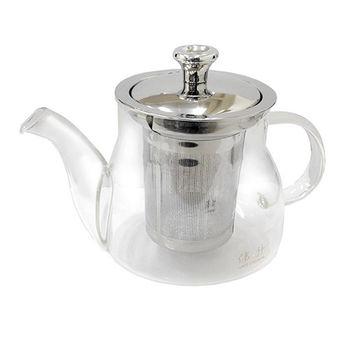 【偉升】耐熱玻璃不鏽鋼茶漏泡茶壺/花茶壺500ML(100Z-2)