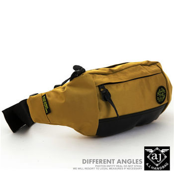 【AJ.亞介】輕量系列 樂活單車包 隨身腰包 單肩包 黃色  (UE8023)
