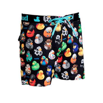 《WAXX》黃色玩具小鴨限量款高質感運動快乾型男海灘褲