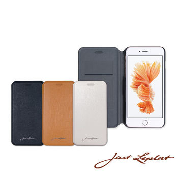 【Just Leplat】麗沛納 5.5吋 Iphone6+/6S+ Plus 真皮手機殼 套 有蓋 100%真牛皮製作 時尚高質感
