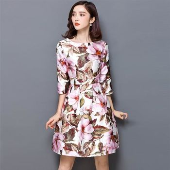 【Jisen】印花情愫蓬蓬裙洋裝