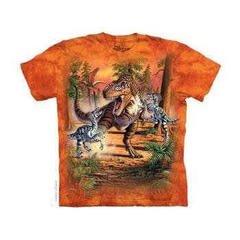 【摩達客】(預購)美國進口The Mountain 恐龍之戰 純棉環保短袖T恤