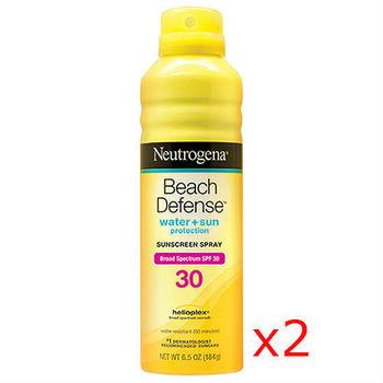 露得清海灘終極防護防曬隔離噴霧SPF 30 PA++++ 184g(2入)★送露得清深層淨化洗面乳 50g