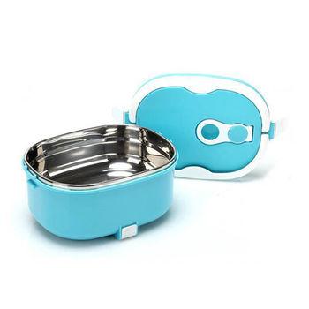 USB 不銹鋼真空保鮮保溫飯盒-藍