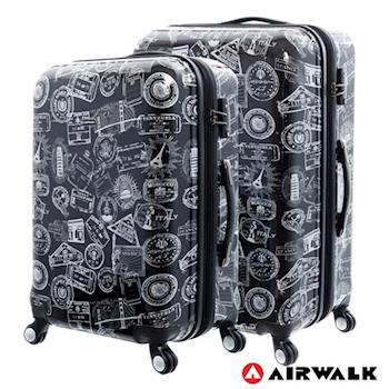 AIRWALK LUGGAGE - 精彩歷程 環郵世界行李箱24+28吋 二箱組(遊玩靚黑)