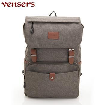 【Vensers】簡約丹寧牛仔後背包(R00064102深灰)