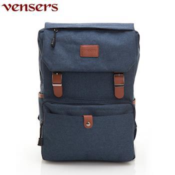 【Vensers】簡約丹寧牛仔後背包(R00064101寶藍)