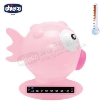 chicco-小河豚沐浴溫度計-粉紅