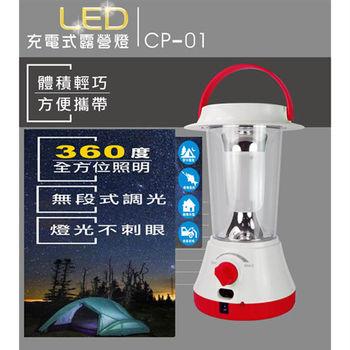【KINYO】充電式LED露營燈(CP-01)