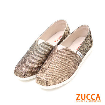 ZUCCA【Z5607GD】簡約奢華璀璨金蔥懶人鞋-金色