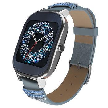 ASUS ZenWatch 2 (小錶18mm) 快充版 智慧型手錶 真皮晶鑽藍 WI502Q(BQC)