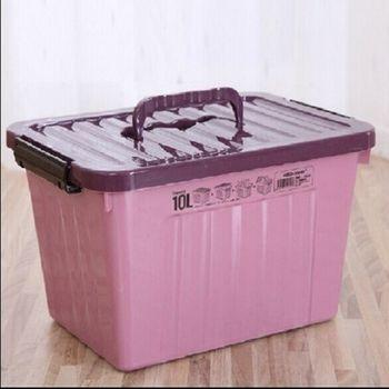 [協賀]收納箱儲物箱周轉箱百納盒帶把手帶蓋滑輪