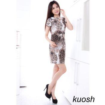 KUOSH美國設計款煙火圖騰洋裝NS-6001