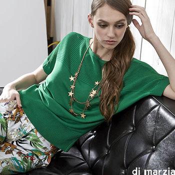 di marzia精品蠶絲針織上衣(綠)