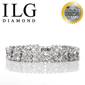 ILG鑽頂級八心八箭擬真鑽石手鍊-Love bravely款 BR051時尚名媛必備
