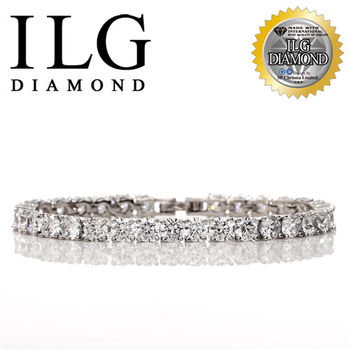 ILG鑽頂級八心八箭擬真鑽石手鍊-鑽約50分-真心情意款 BR049驚喜禮物告白