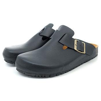 【 cher美鞋】後空勃肯懶人拖♥黑色款♥300-223