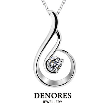 DENORES 遇見 D/VS2 0.30克拉八心八箭美鑽項鍊
