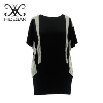 HIDESAN海蒂山 黑白寬版修身顯瘦 上衣