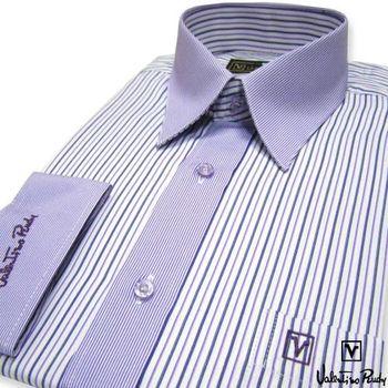 Valentino Rudy范倫鐵諾.路迪 長袖襯衫-紫白直條  ( 零碼出清 17.5吋/42)
