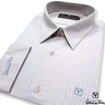 Valentino Rudy范倫鐵諾.路迪 長袖襯衫-灰藍直條  (零碼出清 17.5吋/42)