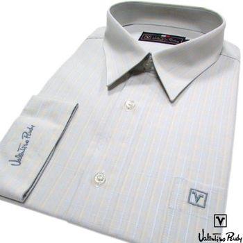 Valentino Rudy范倫鐵諾.路迪 長袖襯衫-黃藍直條   (零碼出清 17.5吋/42)