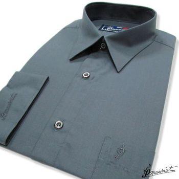 PAUL MAURIAT波爾.瑪亞長袖襯衫-深灰色  ( 零碼出清 16吋/40 )