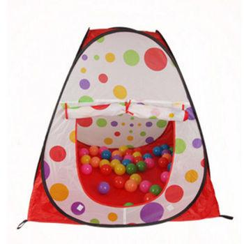 【親親寶貝】粉彩點點超大兒童遊戲帳篷屋/野餐帳篷_寶貝的秘密基地(不含彩球)