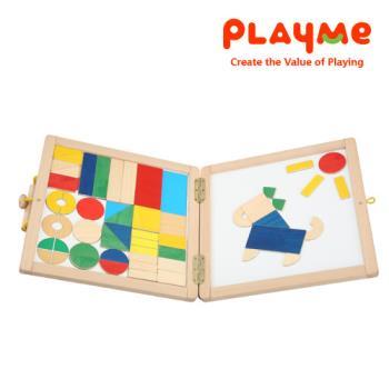 【PlayMe】百變書包~磁鐵拼圖與分數學習