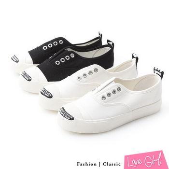 ☆Love Girl☆韓版訂製經典款素面帆布休閒鞋