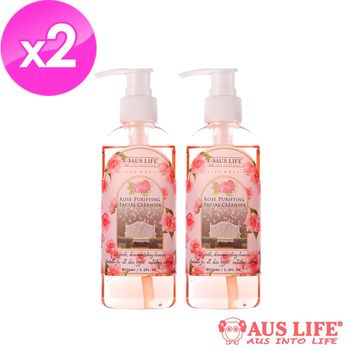 【AUS LIFE】澳思萊玫瑰淨透白洗卸凝膠(2入組)