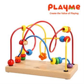 【PlayMe】瓢蟲串珠台~木製串珠玩具