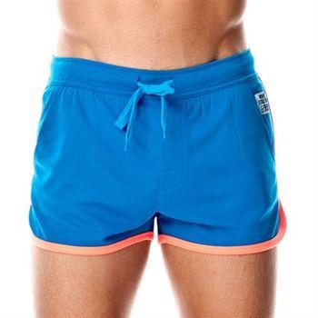 【P.S】運動有邊慢跑束口短褲(藍色)Private Structure