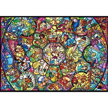 【日本TENYO】迪士尼塑膠拼圖-米奇米妮 彩繪萬花筒 266pcs DPG-266-563