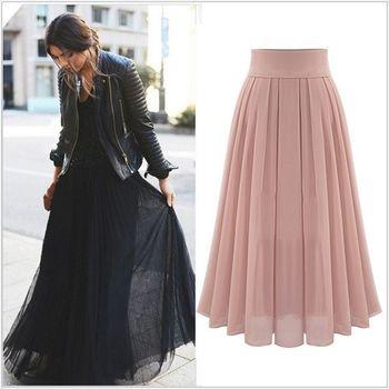 (現貨+預購 RN-girls)-歐美夏季新款時尚氣質優雅雪紡長裙