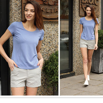 【JORDON】橋登 女款圓領T恤 修身彈性舒適短袖T 吸濕快乾圓領衫 (2906)