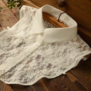 [協賀]白色蕾絲襯衫假領子