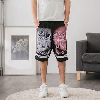 【JimmyWang】男生酷帥黑色短褲*兩側有口袋