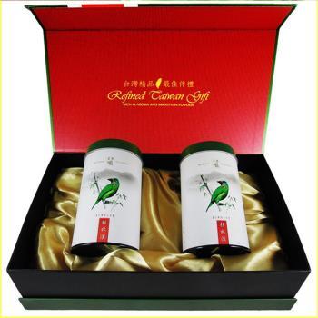 【龍源茶品】冬茶鮮摘-國寶級台灣五色鳥杉林溪精品禮盒2罐組(150g/罐 - 共300g)