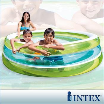 【INTEX】圓型三層透明戲水游泳池 (57489)
