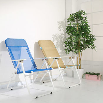 BuyJM 悠活五段式帆布涼椅/躺椅/休閒椅