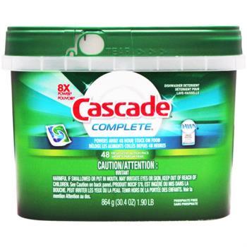 【美國 Cascade】洗碗機專用-強效洗碗碇48入(盒裝深綠)864g/30.4oz