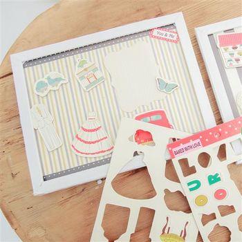 【ZARATA】韓國趣味立體貼紙手作DIY主題紀念相框 大
