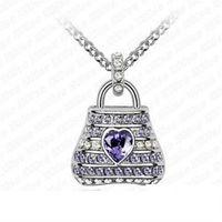 ~米蘭 ~925純銀項鍊鑲鑽吊墜璀璨吸晴包包