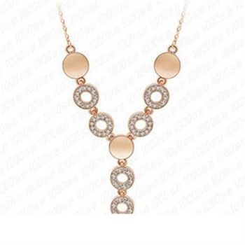 【米蘭精品】925純銀項鍊鑲鑽吊墜時尚奢華鎖骨鍊