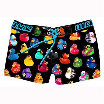 《WAXX》玩具黃色小鴨聯名限量款高質感運動快乾型女海灘褲
