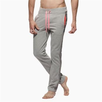 【P.S】特色口袋側邊線條窄版貼身長褲(淺灰色)Private Structure
