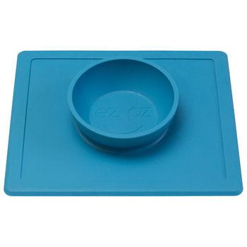 美國EZPZ矽膠防滑餐碗-寶石藍
